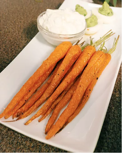 Roasted Carrots and Feta Dip