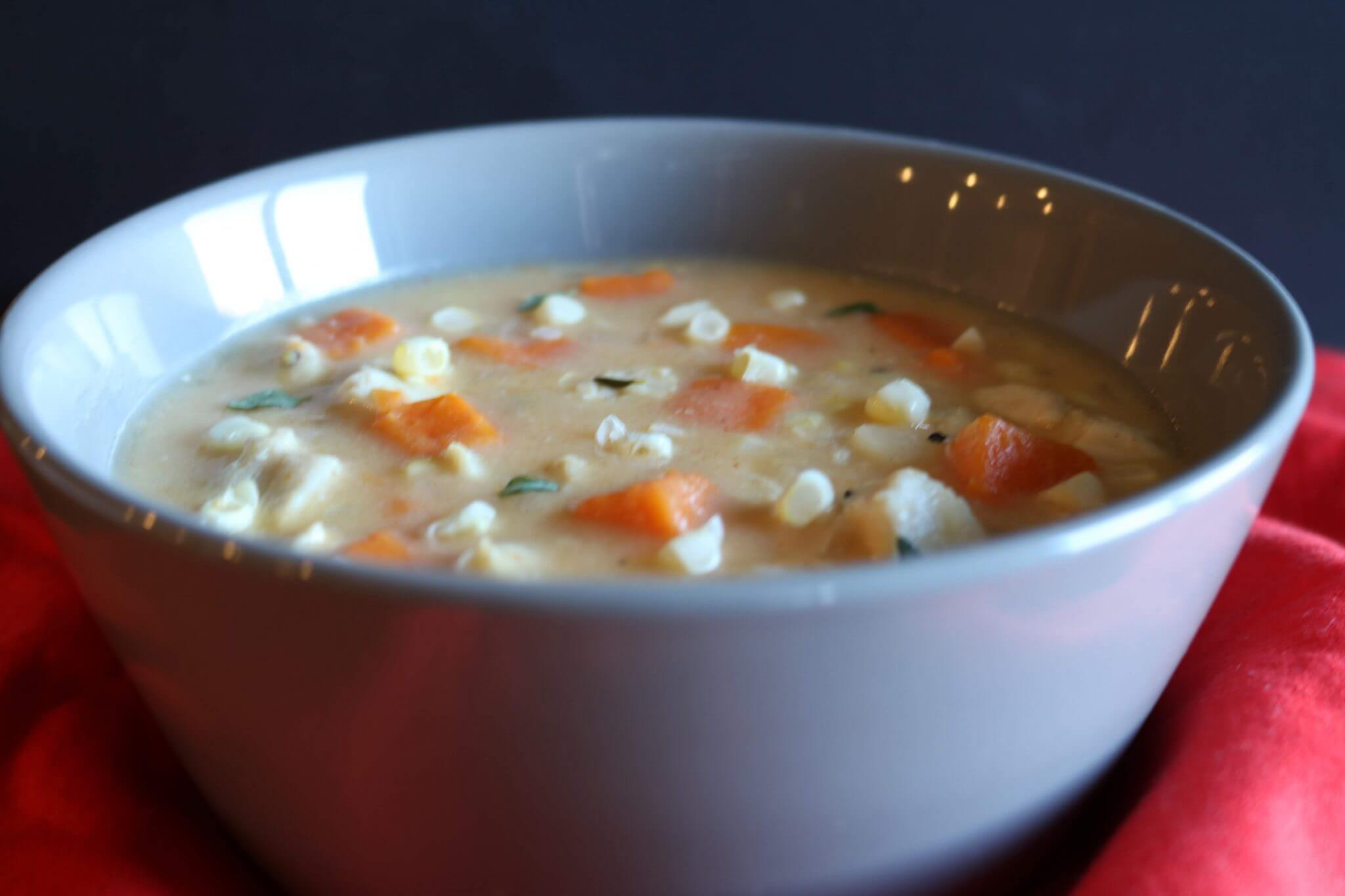 Sweet Potato Chicken Corn Chowder