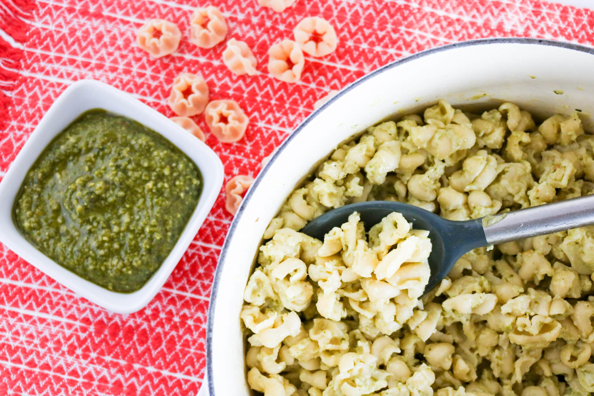 Pesto Macaroni and Cheese