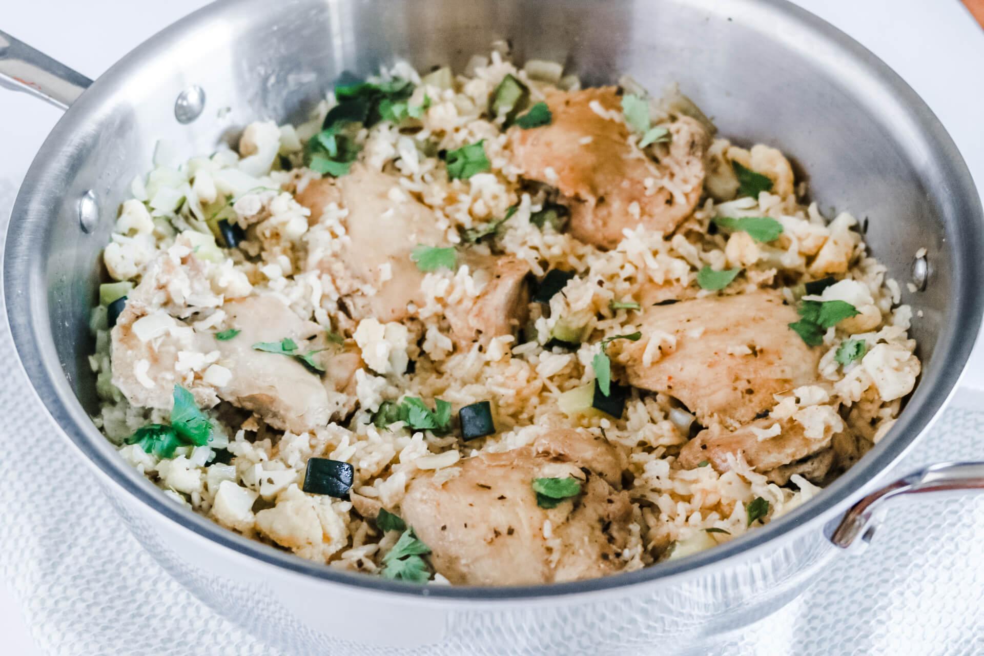 Salsa Verde Chicken Skillet